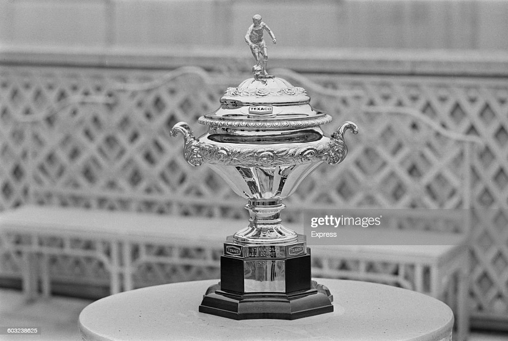 The Texaco Cup, an association football trophy, UK, 8th February 1971.