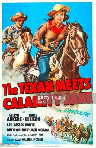 The Texan Meets Calamity Jane poster US poster art from left James Ellison Evelyn Ankers 1950