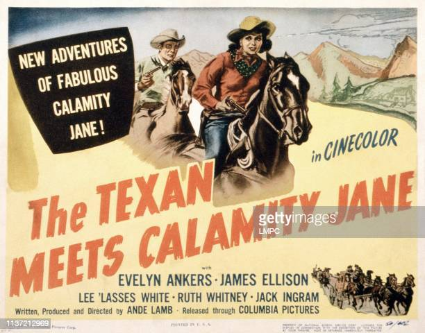 The Texan Meets Calamity Jane poster US poster from left James Ellison Evelyn Ankers 1950