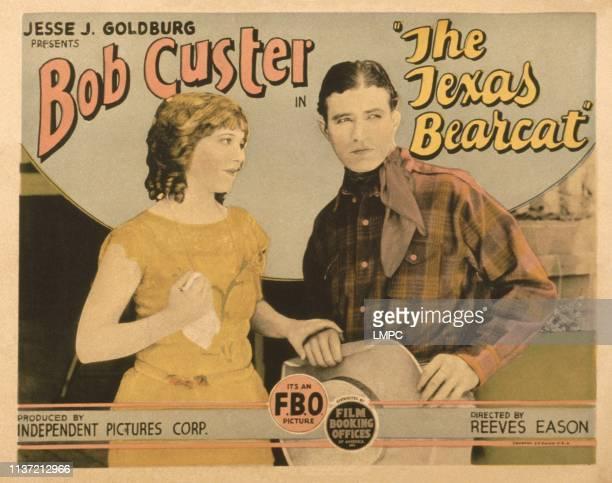 The Texas Bearcat US lobbycard from left Sally Rand Bob Custer 1925