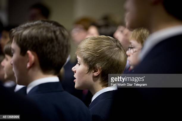 The Texas Boys Choir sings at a breakfast designed to recreate the day President John F Kennedy spoke and visited the Dallas area at the Hilton hotel...