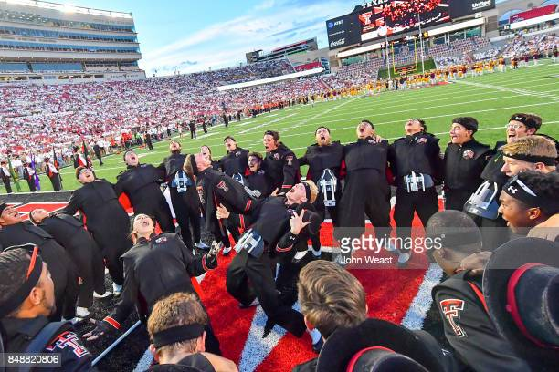 The Texas Tech Red Raiders 'Goin Band' gets fired up before the game between the Texas Tech Red Raiders and the Arizona State Sun Devils on September...