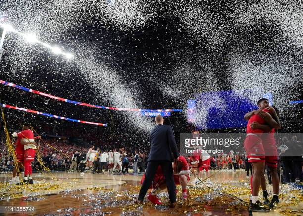 The Texas Tech Red Raiders react after their 8577 loss to the Virginia Cavaliers in the 2019 NCAA men's Final Four National Championship game at US...