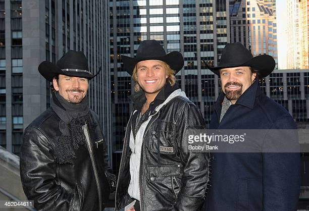 """The Texas Tenors, JC Fisher, Marcus Collins and John Hagen in New York City promoting their November 30th PBS special, """"You Should Dream"""" on November..."""