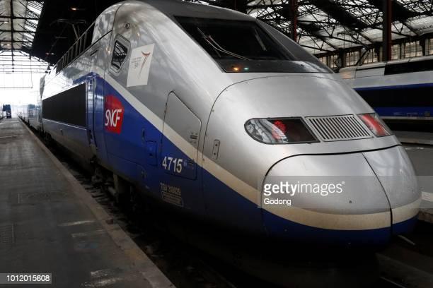 The TGV operated by the SNCF Gare de Lyon Paris France
