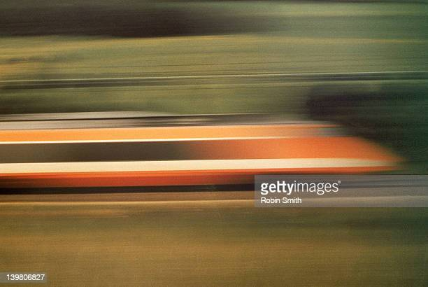 The TGV, the worlds fastest train in motion (260km/ph)