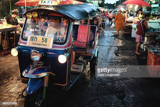 The Thai tuktuk also known as a threewheeler or auto rickshaw is a popular form of local transportation It is used mostly in congested urban areas...