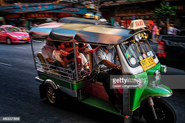 CHINATOWN BANGKOK THAILAND The Thai tuktuk also known as a threewheeler or auto rickshaw is a popular form of local transportation It is used mostly...