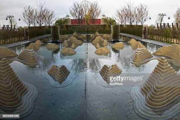The Thailand 'Garden of the mind' is pictured during a press preview of the IGA 2017 in Berlin Germany on April 7 2017 Last arrangements are being...