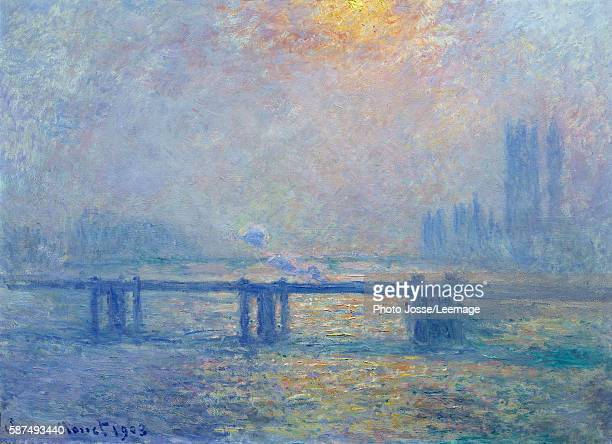 The Thames at Charing Cross Bridge London Painting by Claude Monet 1903 073 x 1 m BeauxArts Museum Lyon France