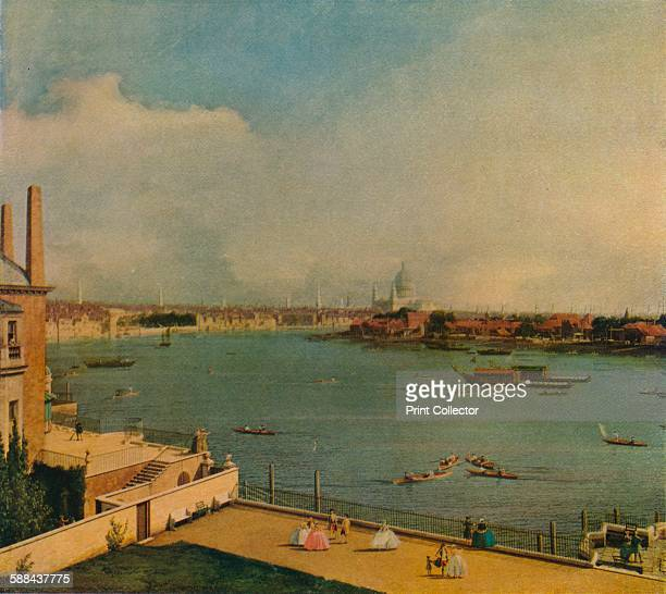 The Thames from Richmond House' 1746 Painting held at Goodwood House Chichester From The Studio Volume 83 Artist Canaletto