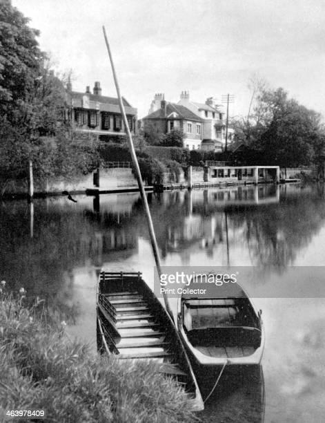 The Thames near Weybridge Surrey England 19241926 Illustration from Hutchinson's Britain Beautiful edited by Walter Hutchinson volume IV