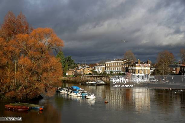 The Thames riverside in Richmond-Upon-Thames during the UK's third COVID-19 lockdown on January 19, 2021 in Richmond, London . With a surge of...