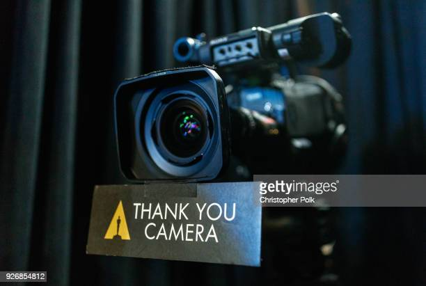 The 'Thank You Camera' backstage during rehersals for the 90th Oscars at The Dolby Theatre on March 3 2018 in Hollywood California