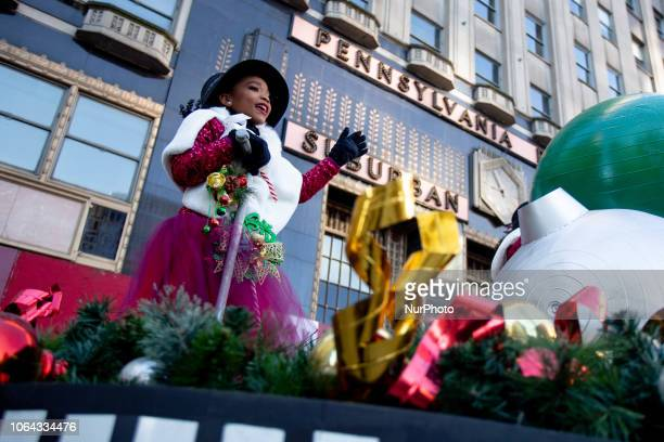 The Thanksgiving Day Parade in Philadelphia proceeds down the Benjamin Franklin Parkway, November 22, 2018. Those who came out along the parade route...