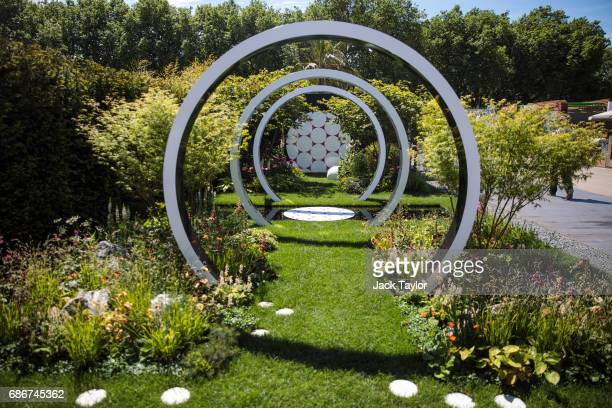 The 'The Breast Cancer Now Garden Through The Microscope' on display at the Chelsea Flower Show on May 22 2017 in London England The prestigious...