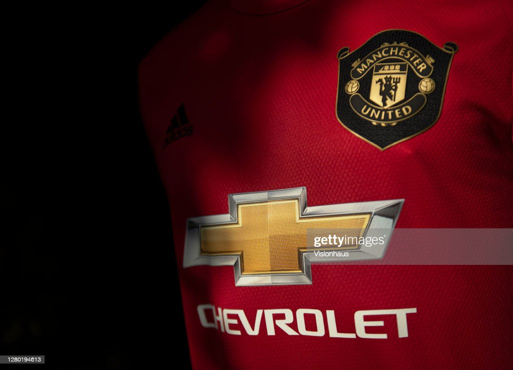The Manchester United Club Badge on the Home Shirt : News Photo