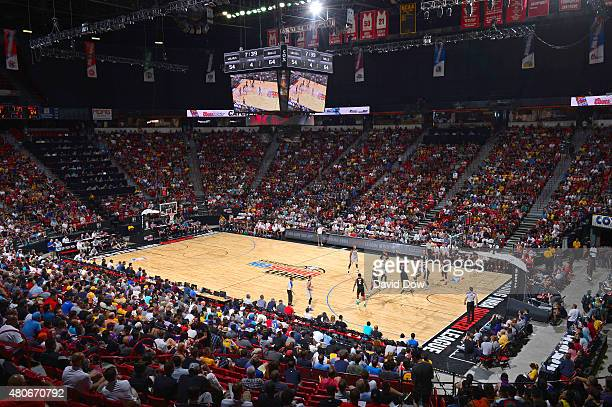 The the Minnesota Timberwolves play against the Chicago Bulls during the 2015 NBA Las Vegas Summer League game on July 11 2015 at the Thomas and Mack...