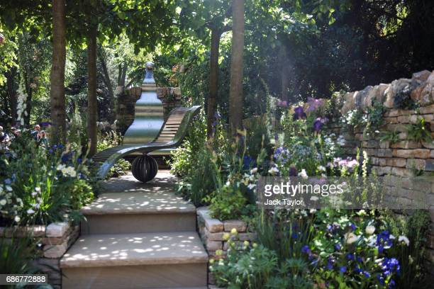 The 'The Poetry Lover's Garden' on display at the Chelsea Flower Show on May 22 2017 in London England The prestigious Chelsea Flower Show held...