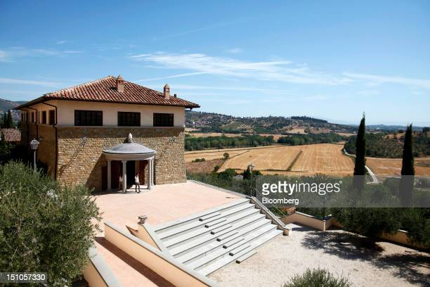The theater built by Brunello Cucinelli stands in the village of Solomeo where the company is based near Perugia Italy on Thursday Aug 30 2012...