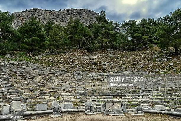 the theater of priene - emreturanphoto stock-fotos und bilder