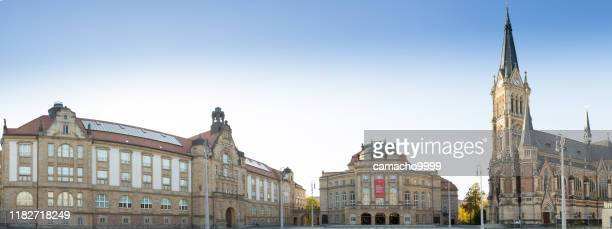 the theater square in chemnitz - chemnitz stock pictures, royalty-free photos & images