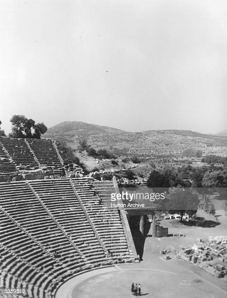 The theatre at Epidaurus the ancient Greek citystate on the northeast coast of the Peleponnisos