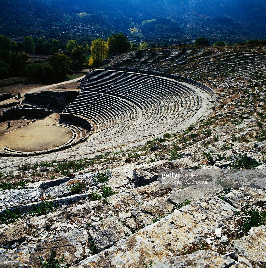 the theatre built by king pyrrhus ancient city of dodona epirus