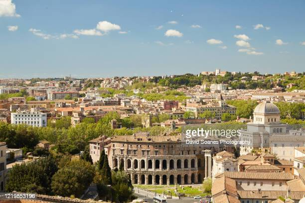 the theatre of marcellus in rome, italy - fascism stock pictures, royalty-free photos & images