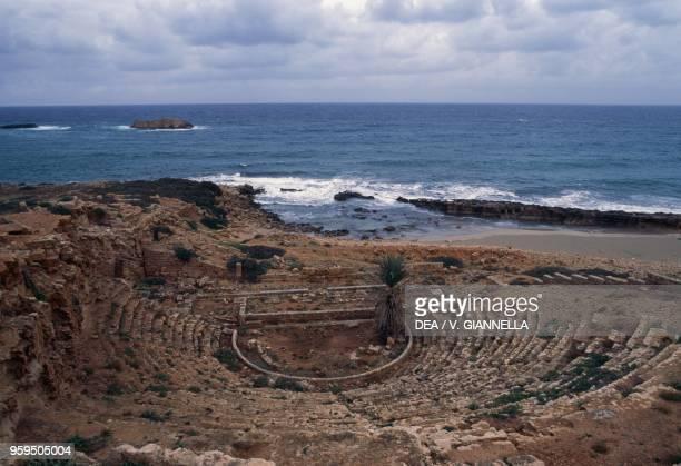 The theatre on the sea Apollonia near Susah Libya Greek and Roman civilization 3rd century BC1st century AD