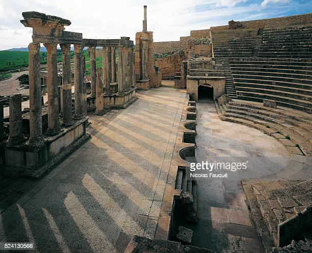 The theatre which was built in 168 or 169 CE is one of the best preserved examples in Roman Africa It could seat 3500 spectators even though Dougga...