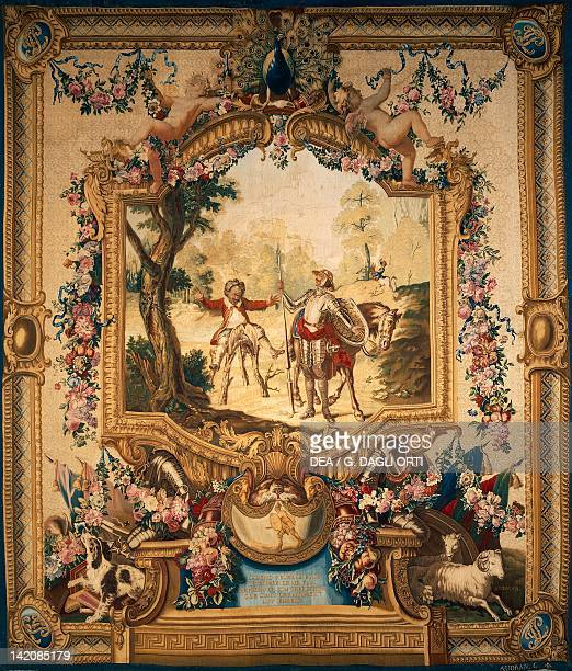 The theft of Sancho's donkey 18th century Gobelins tapestry woven by Audran after designs by Charles Coypel 171444 from the series Don Quixote