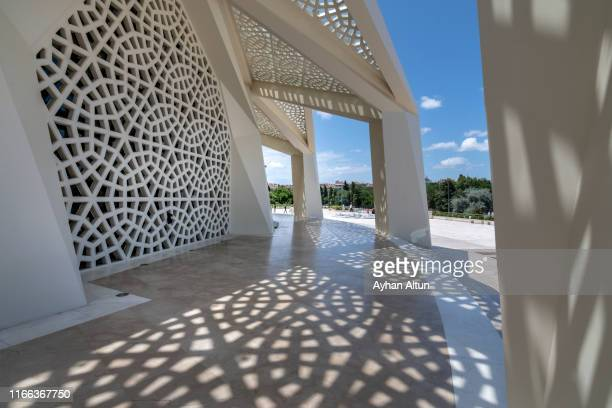 the theology mosque(ilahiyat cami) in uskudar district of istanbul, turkey - contemporary istanbul foto e immagini stock