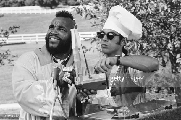 TEAM The Theory of Revolution Episode 5 Pictured Mr T as BA Baracus Eddie Velez as Frankie Santana Photo by Bill Dow/NBCU Photo Bank