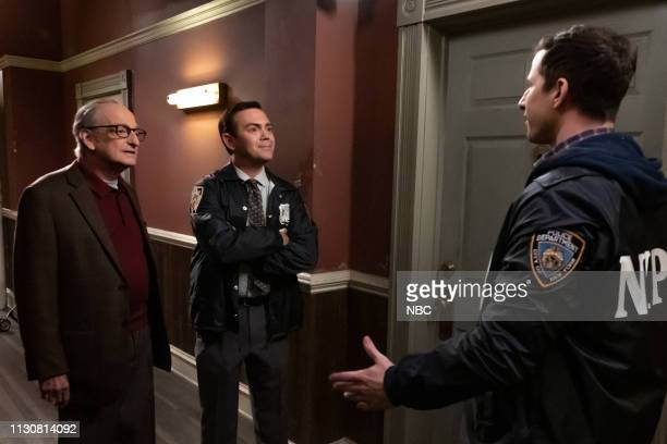 NINE The Therapist Episode 608 Pictured David Paymer as Dr William Tate Joe Lo Truglio as Charles Boyle Andy Samberg as Jake Peralta