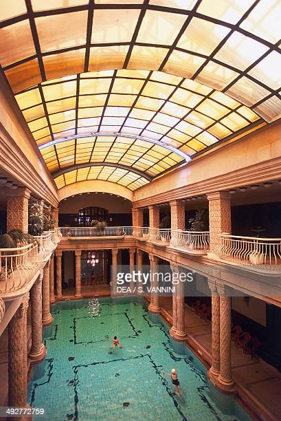 The thermal pool at Hotel Gellert 19161918 Art Nouveau style Budapest Hungary