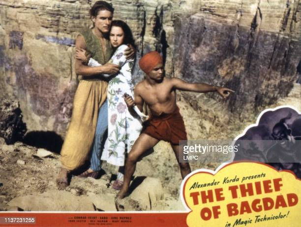 The Thief Of Bagdad lobbycard John Justin June Duprez Sabu 1940