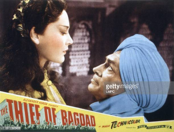 The Thief Of Bagdad lobbycard June Duprez Conrad Veidt 1940