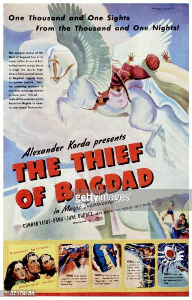 The Thief Of Bagdad poster bottom left from left June Duprez Conrad Veidt Sabu 1940