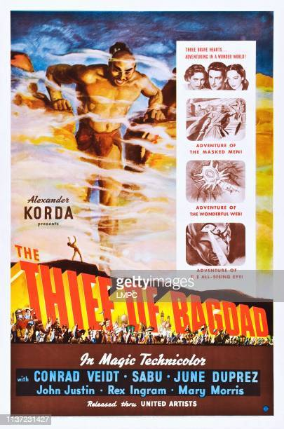 The Thief Of Bagdad poster poster art Rex Ingram top insert Sabu John Justin June Duprez 1940