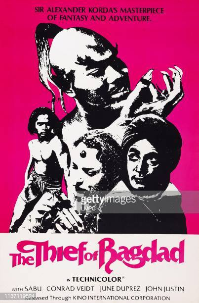 The Thief Of Bagdad poster US poster art from left Sabu Rex Ingram June Duprez Conrad Veidt 1940