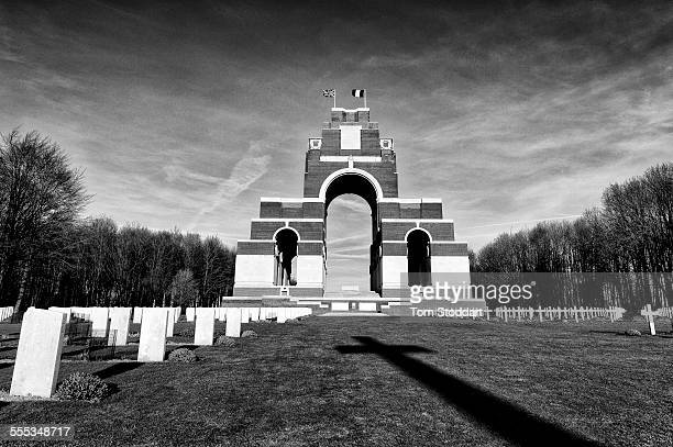 The Thiepval Memorial to the missing of the Somme, bears the names of 73,357 officers and men of the United Kingdom and South African forces who died...