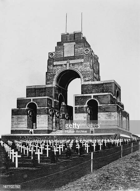 The Thiepval Memorial to the Missing of the Somme near Thiepval in Picardie France circa 1935 The memorial is dedicated to the 72191 missing British...