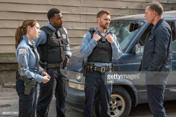 "The Thing About Heroes"" Episode 503 -- Pictured: Marina Squerciati as Kim Burgess, LaRoyce Hawkins as Kevin Atwater, Patrick John Flueger as Adam..."