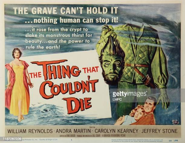 The Thing That Couldn't Die lobbycard from left Andra Martin Robin Hughes Carolyn Kearney William Reynolds 1958