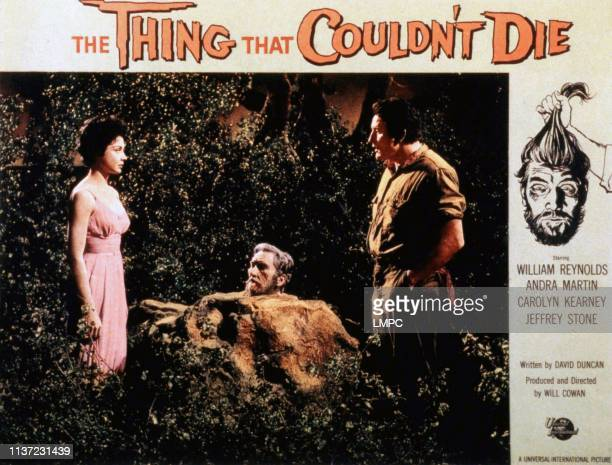 The Thing That Wouldn't Die lobbycard Andra Martin Robin Huges 1958