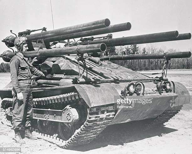 This new antitank weapon A 'LandGoing Destroyer' armed with recoilless rifles and machine guns is expected to give added punch to Marine amphibious...