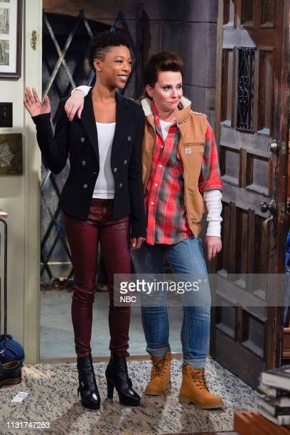WILL GRACE 'The Things We Do For Love' Episode 217 Pictured Samira Wiley as Nikki Megan Mullally as Karen Walker