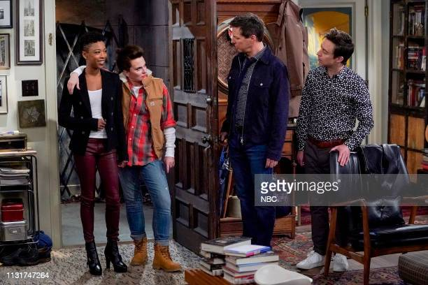 WILL GRACE 'The Things We Do For Love' Episode 217 Pictured Samira Wiley as Nikki Megan Mullally as Karen Walker Sean Hayes as Jack McFarland Brian...