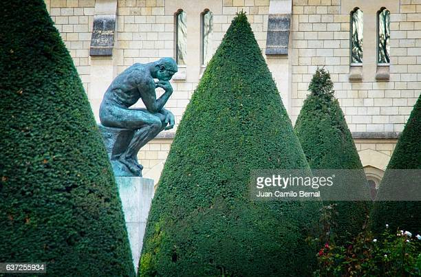 The Thinker at the Musée Rodin (Rodin Museum) in Paris, France